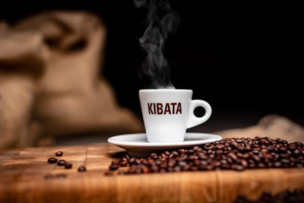 "Espressotasse mit ""KIBATA"" Logo"