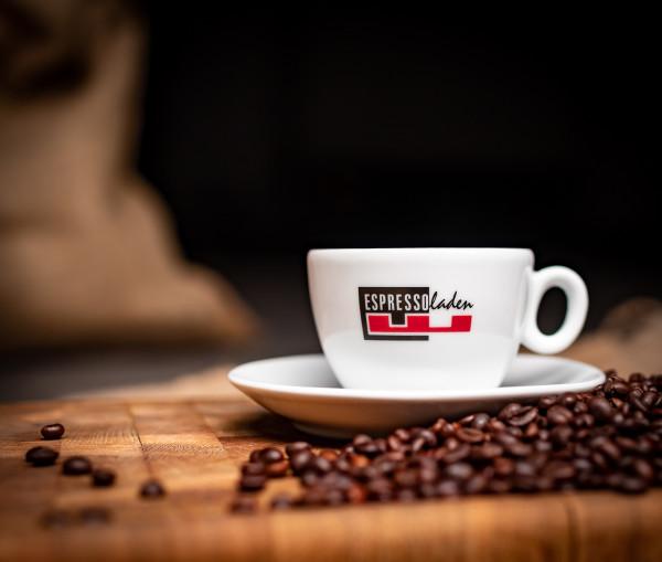 """Espressotasse mit """"Espressoladen"""" Logo"""