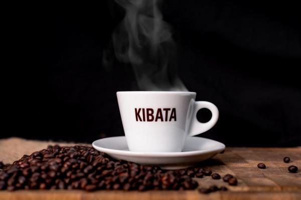 "Cappuccinotasse mit ""KIBATA"" Logo"